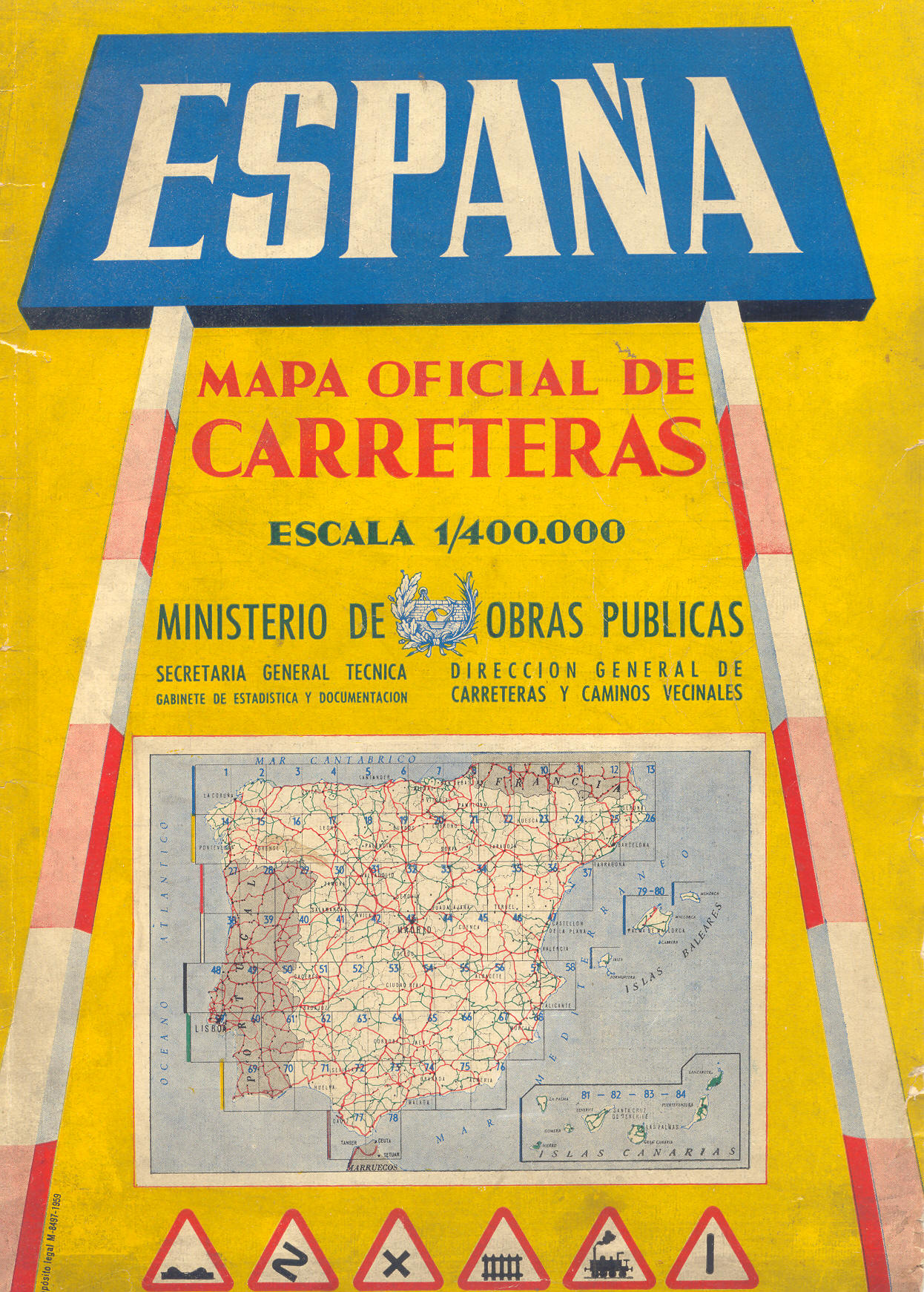 Spain official road map 1959