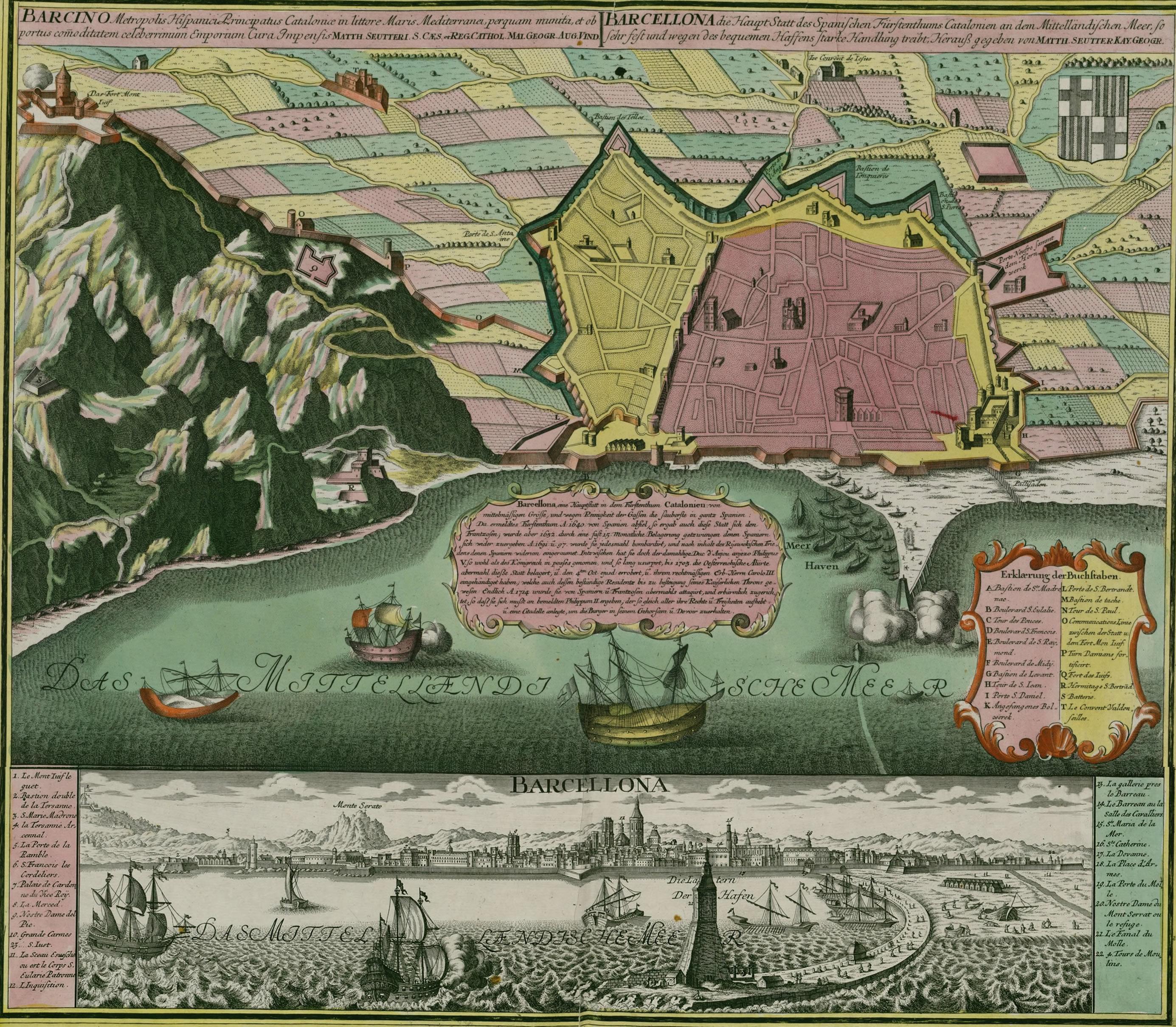 Barcelona in 1750