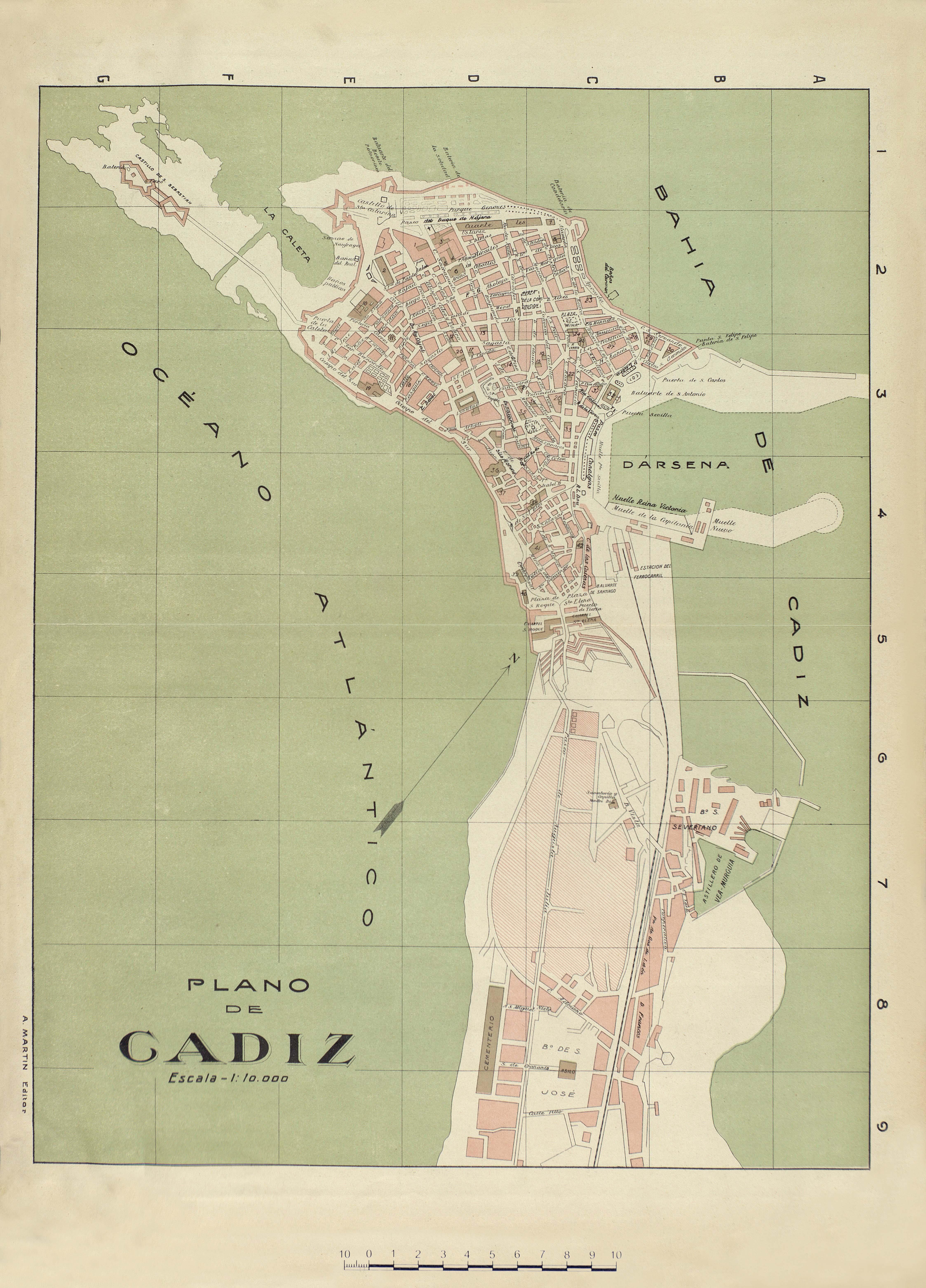 Map of Cádiz