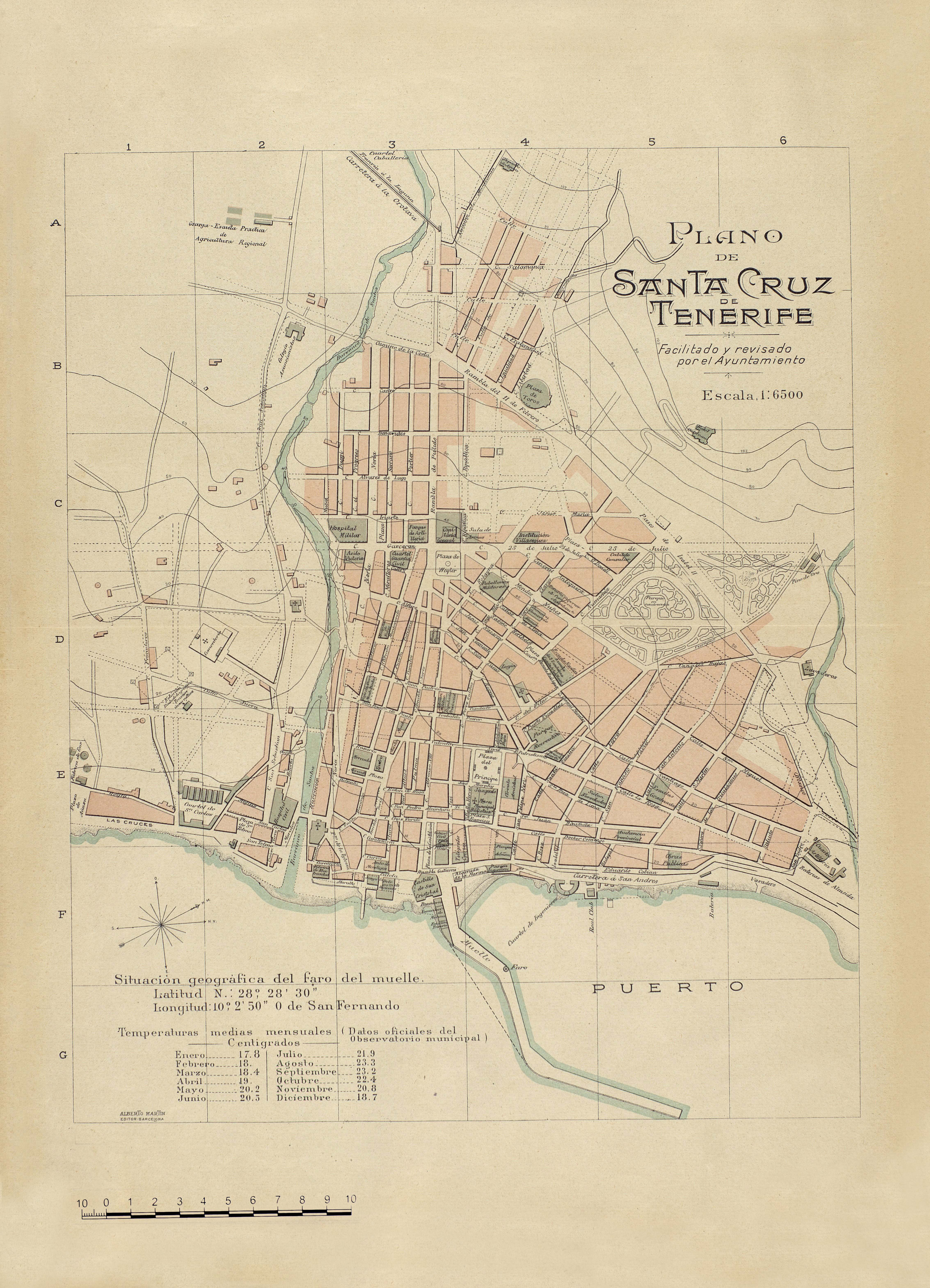 Plano de Santa Cruz de Tenerife