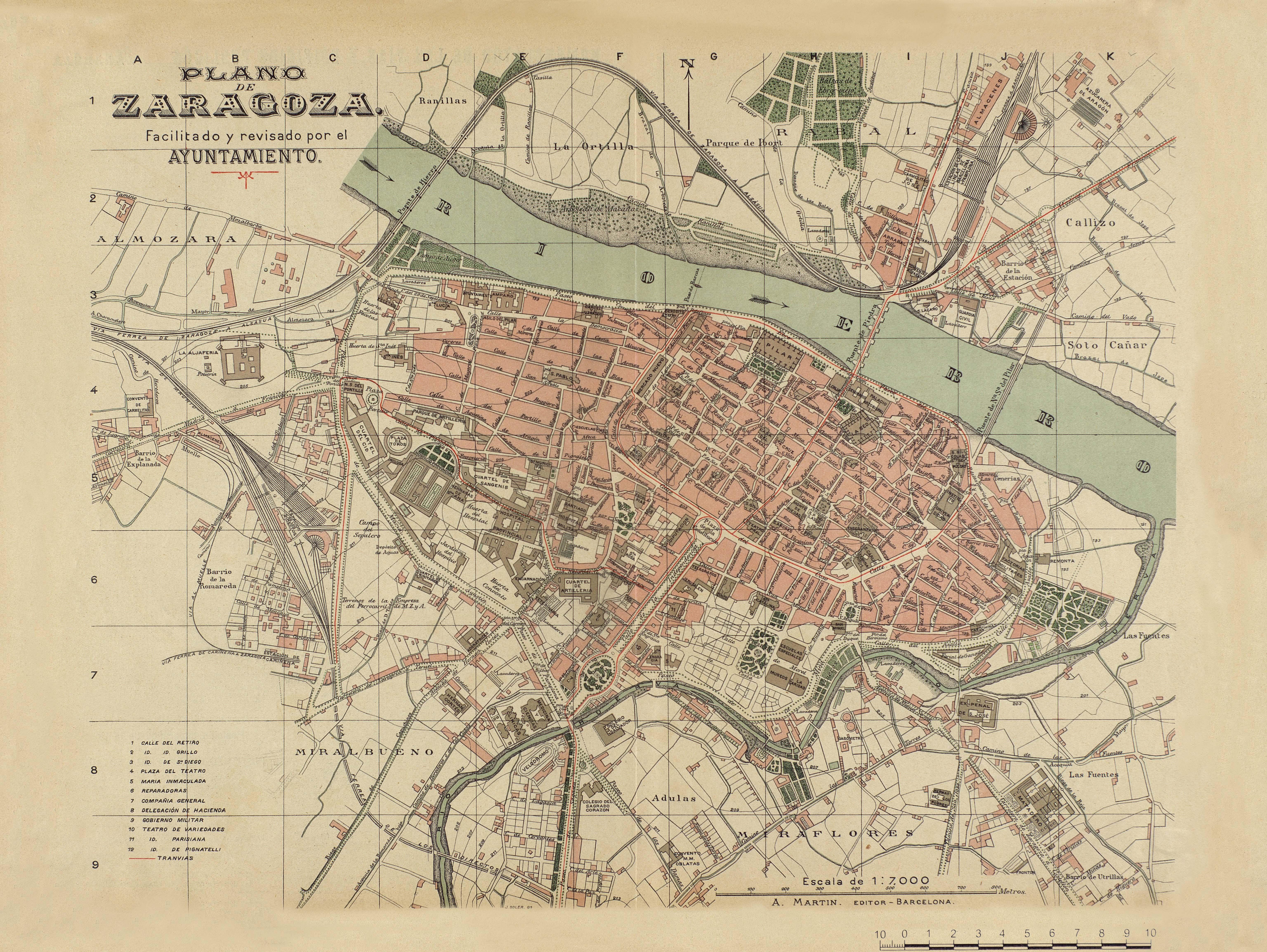 Plano de Zaragoza