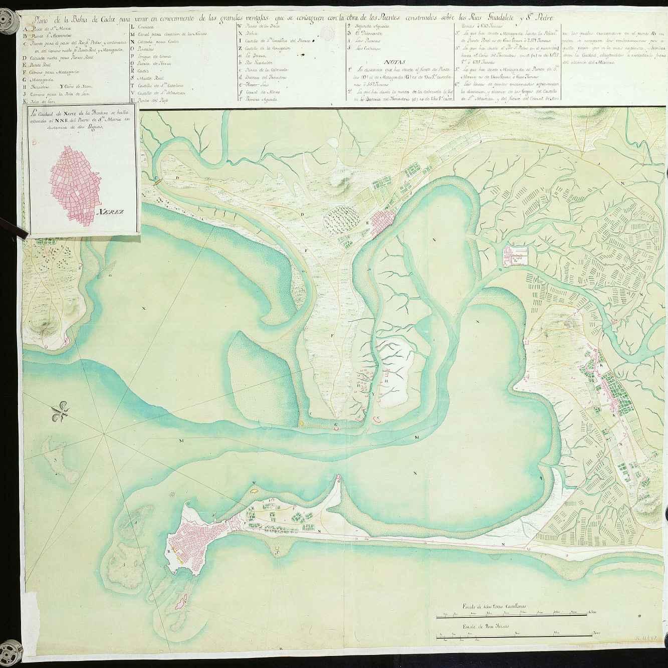 Bay of Cádiz map 17??