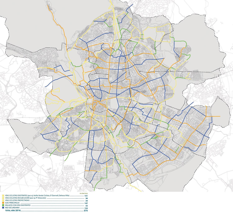 Vías ciclistas de la Ciudad de Madrid