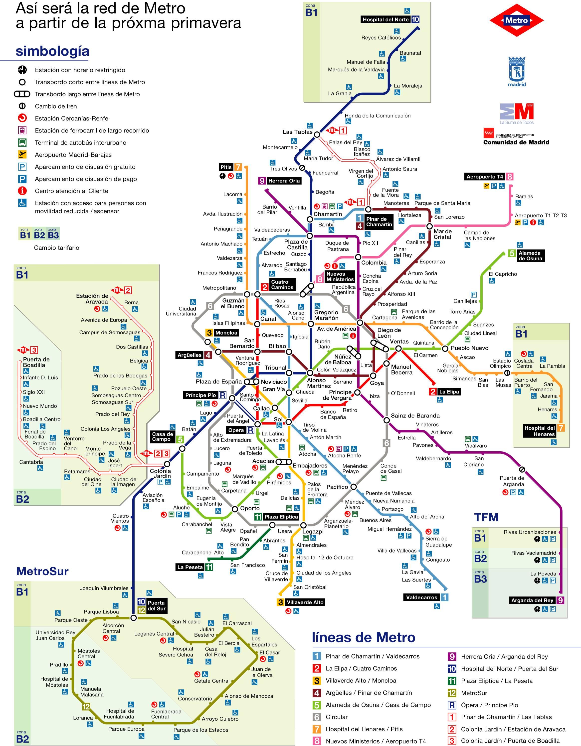 Mapa Metro De Madrid.Mapa De Metro De Madrid 2007 Mapa Owje Com