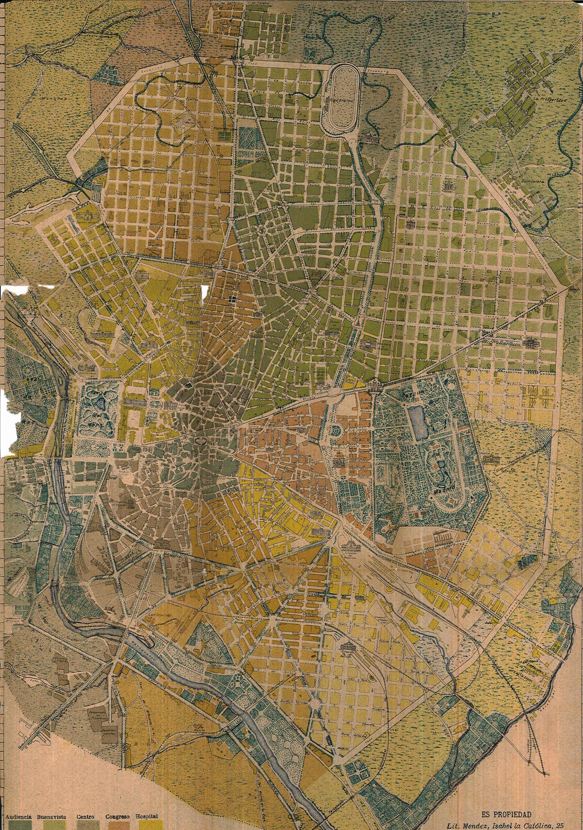 Madrid map of 1902