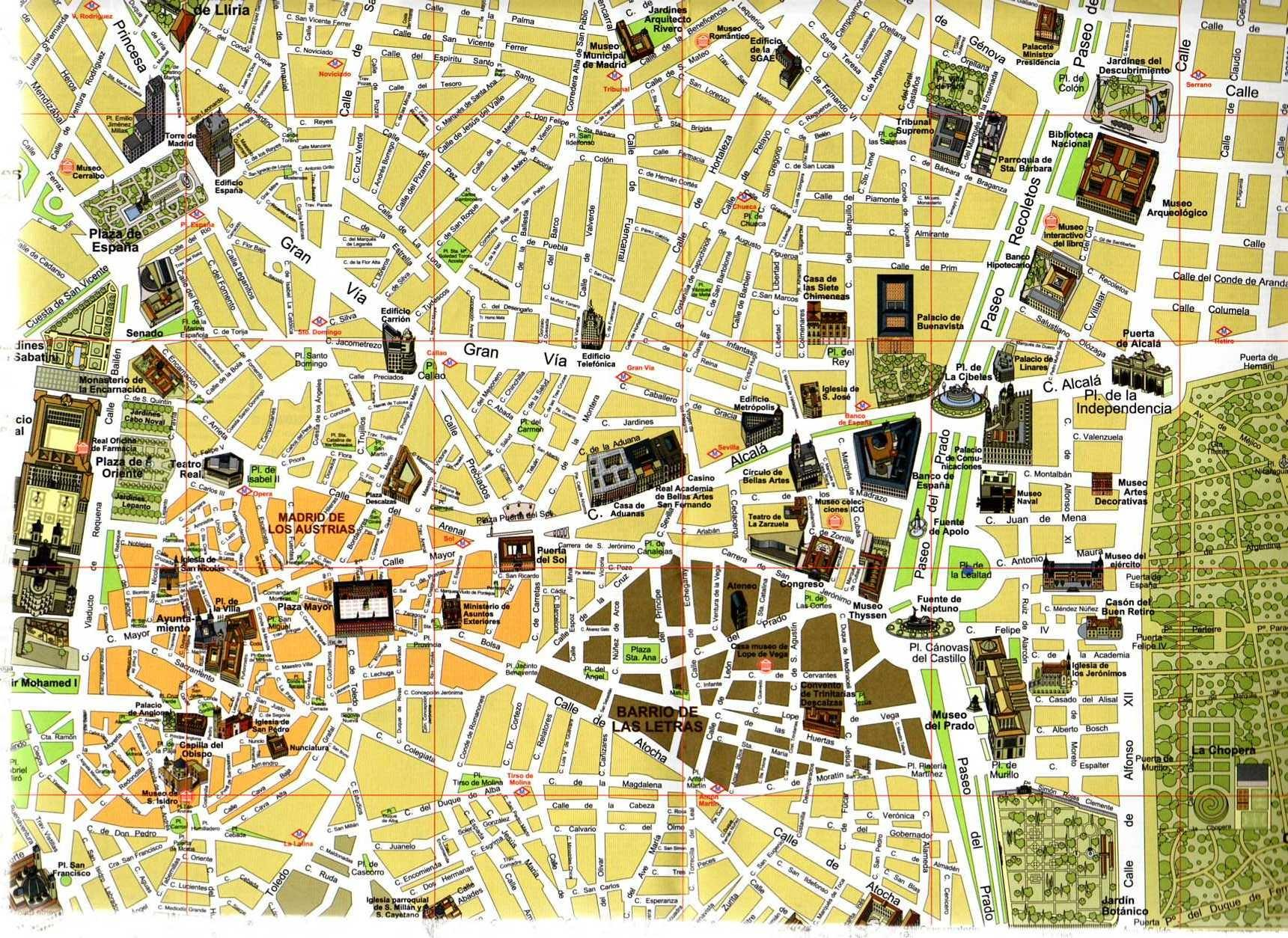 Madrid tourist map