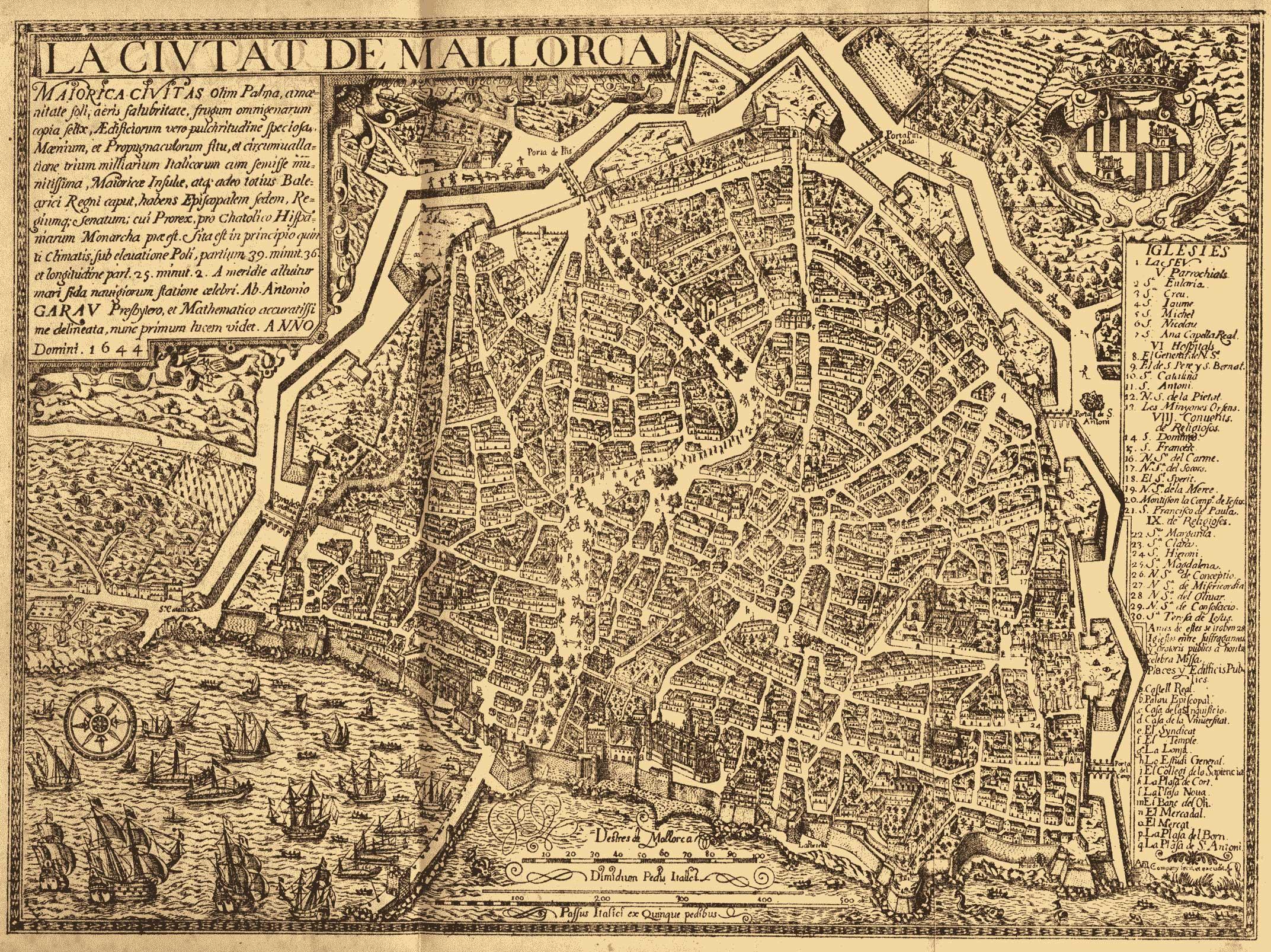 La Ciutat de Mallorca 1644