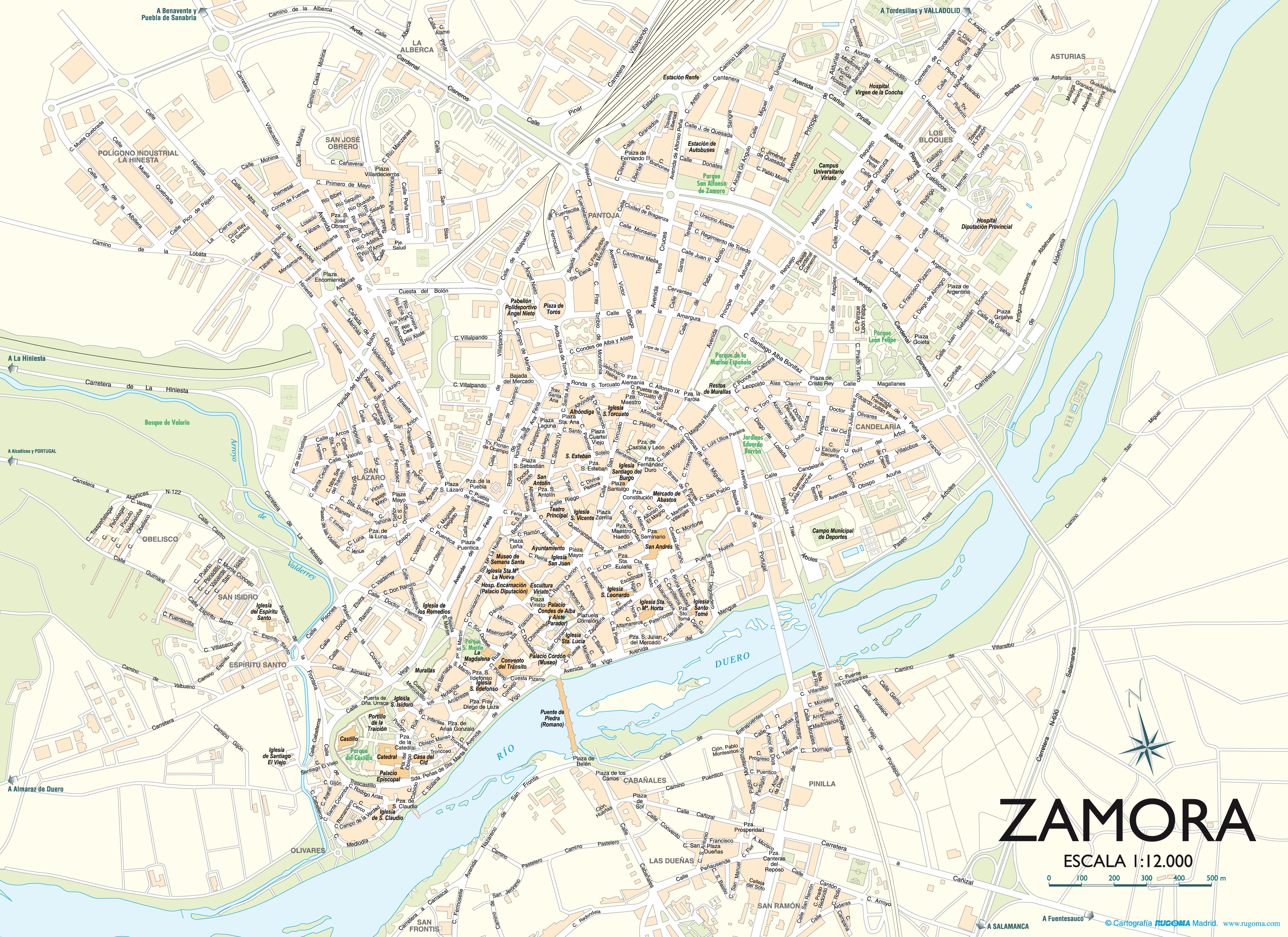 Mapa de Zamora