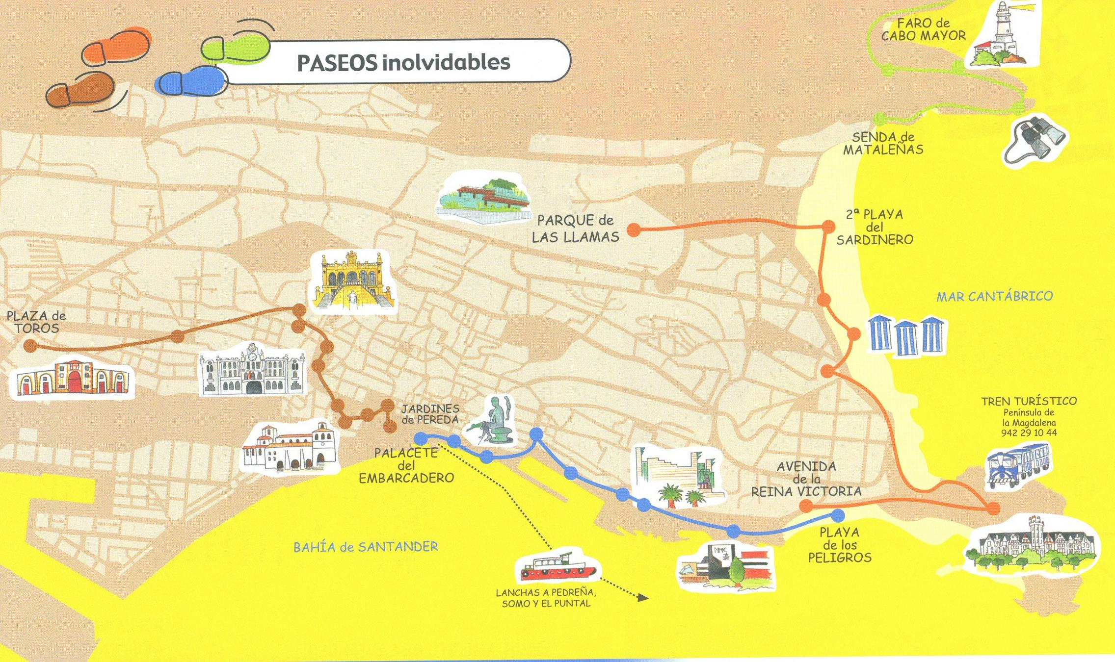 Paseos turísticos por Santander