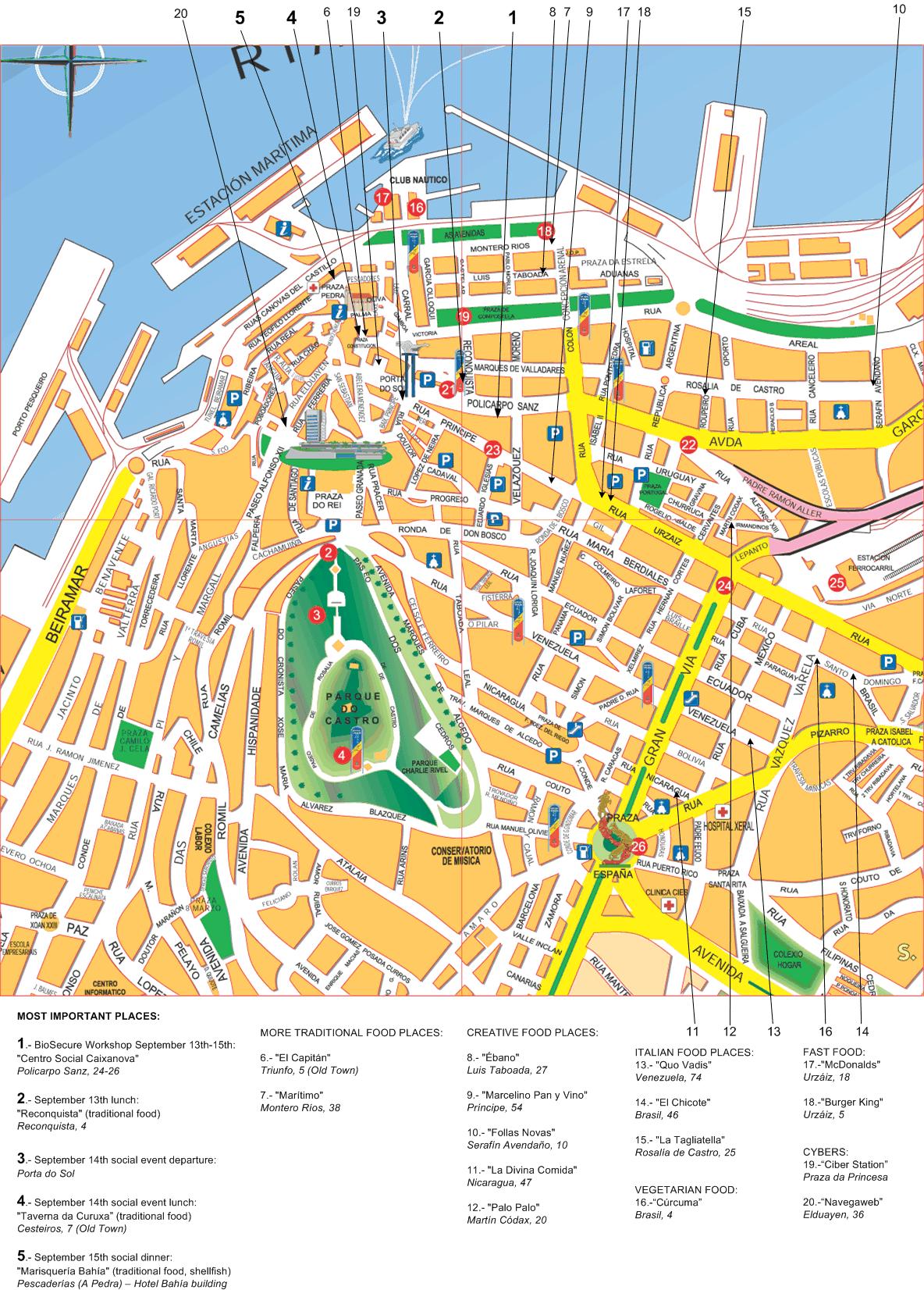 Mapa turístico de Vigo