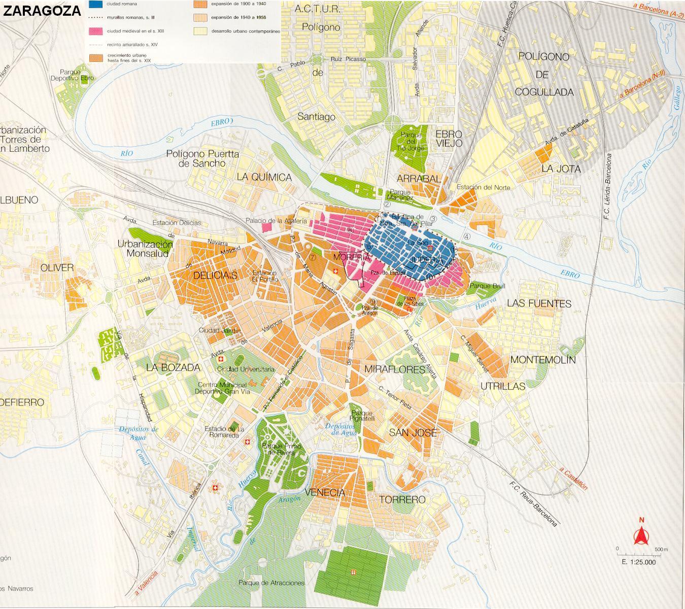 Mapa De Zaragoza Ciudad.Mapa De Zaragoza Mapa Owje Com