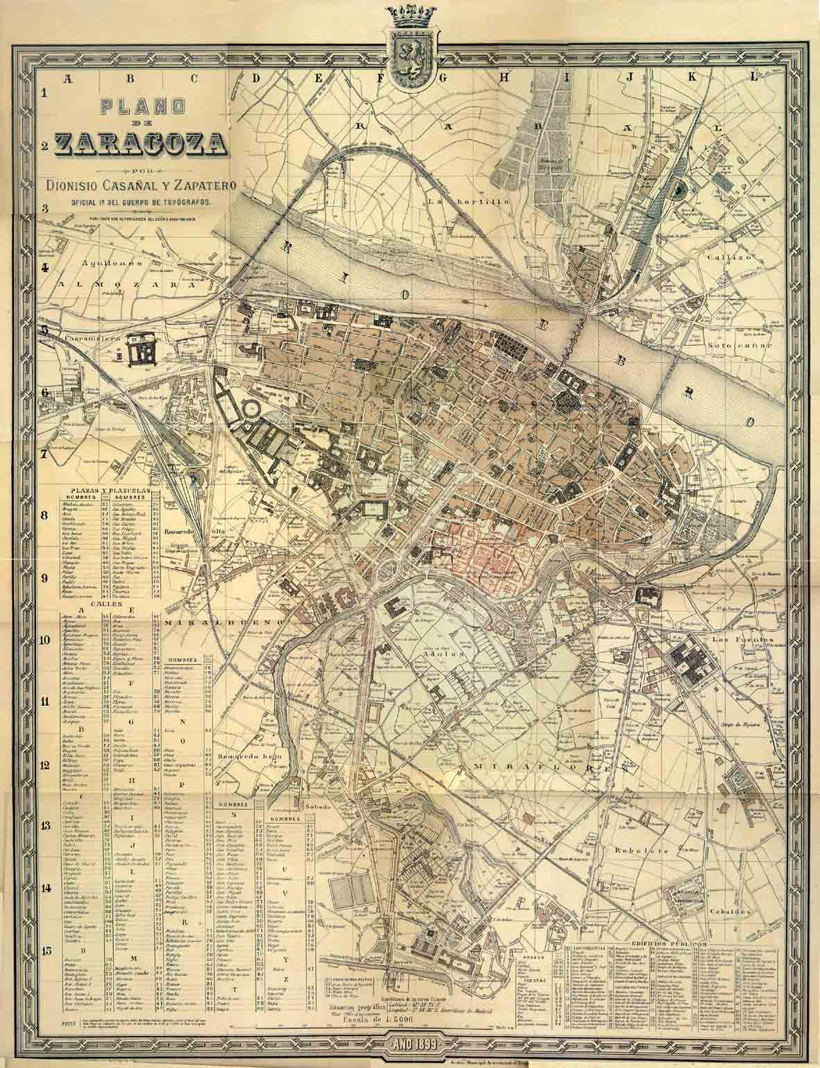 Plano de Zaragoza 1899