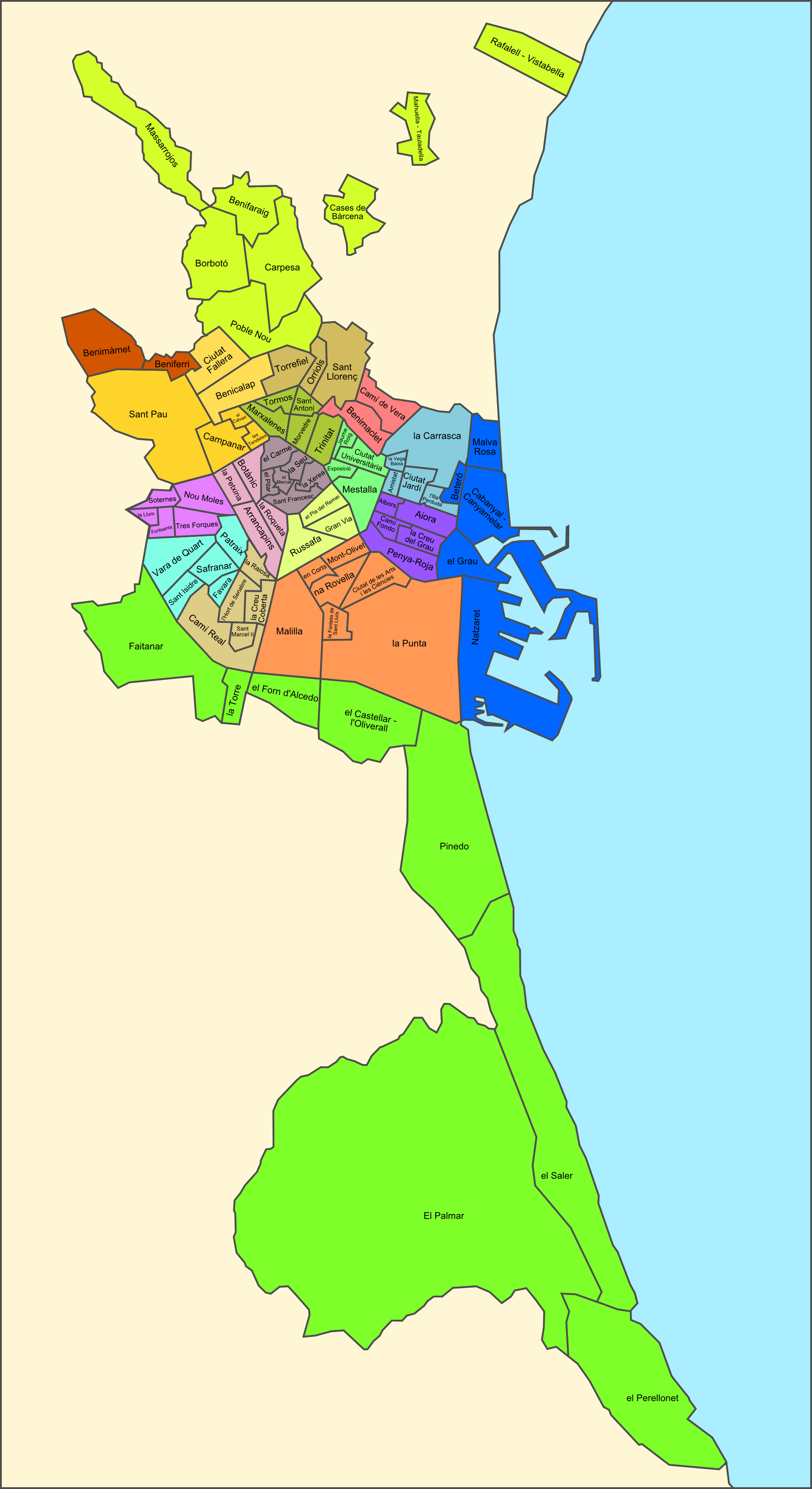 Neighborhoods of Valencia 2010