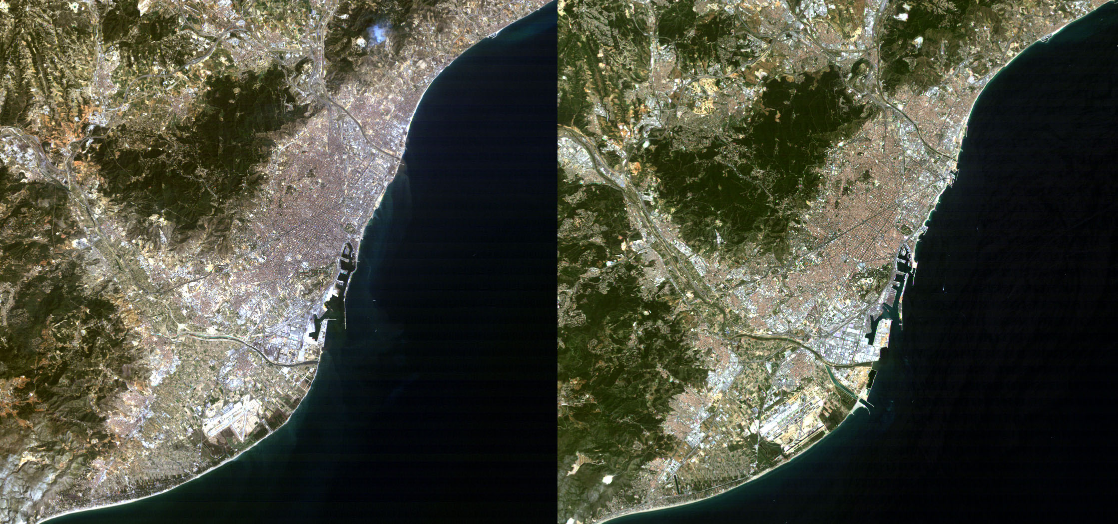 Barcelona in 1984 and 2004