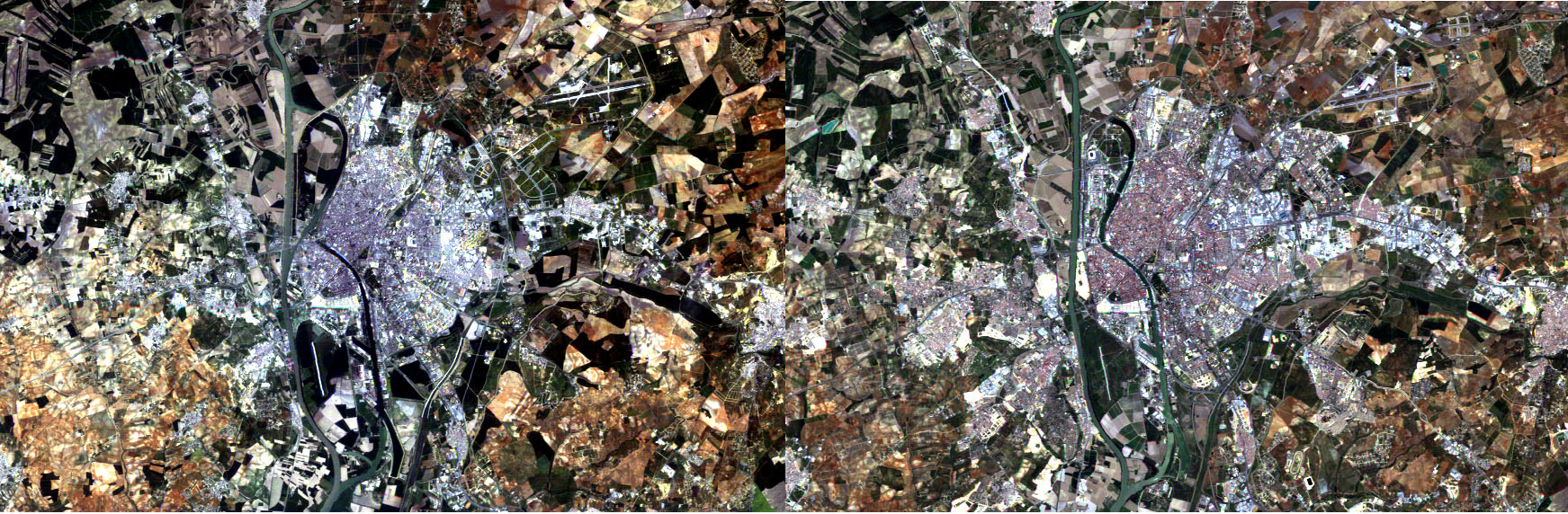 Seville in 1984 and 2004