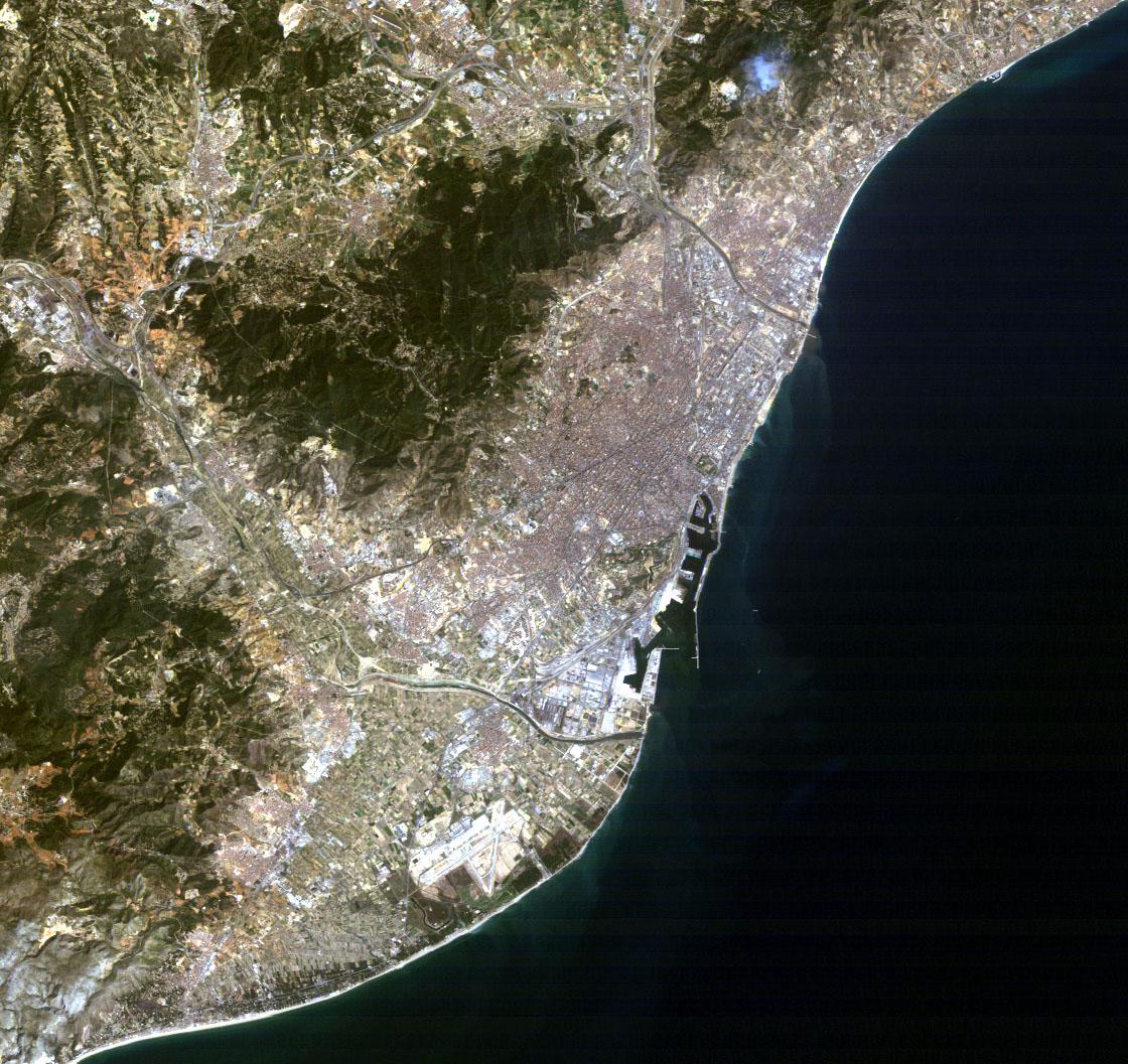 Imagen satelital de Barcelona 1984