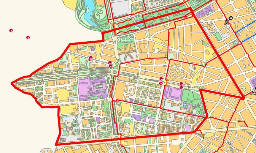 Mapa del distrito de l'Olivereta