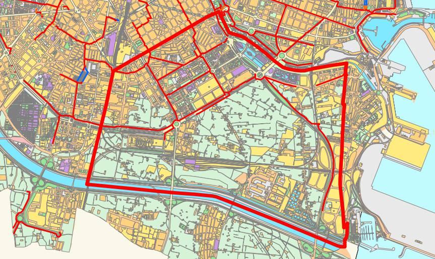 Quatre Carreres district map