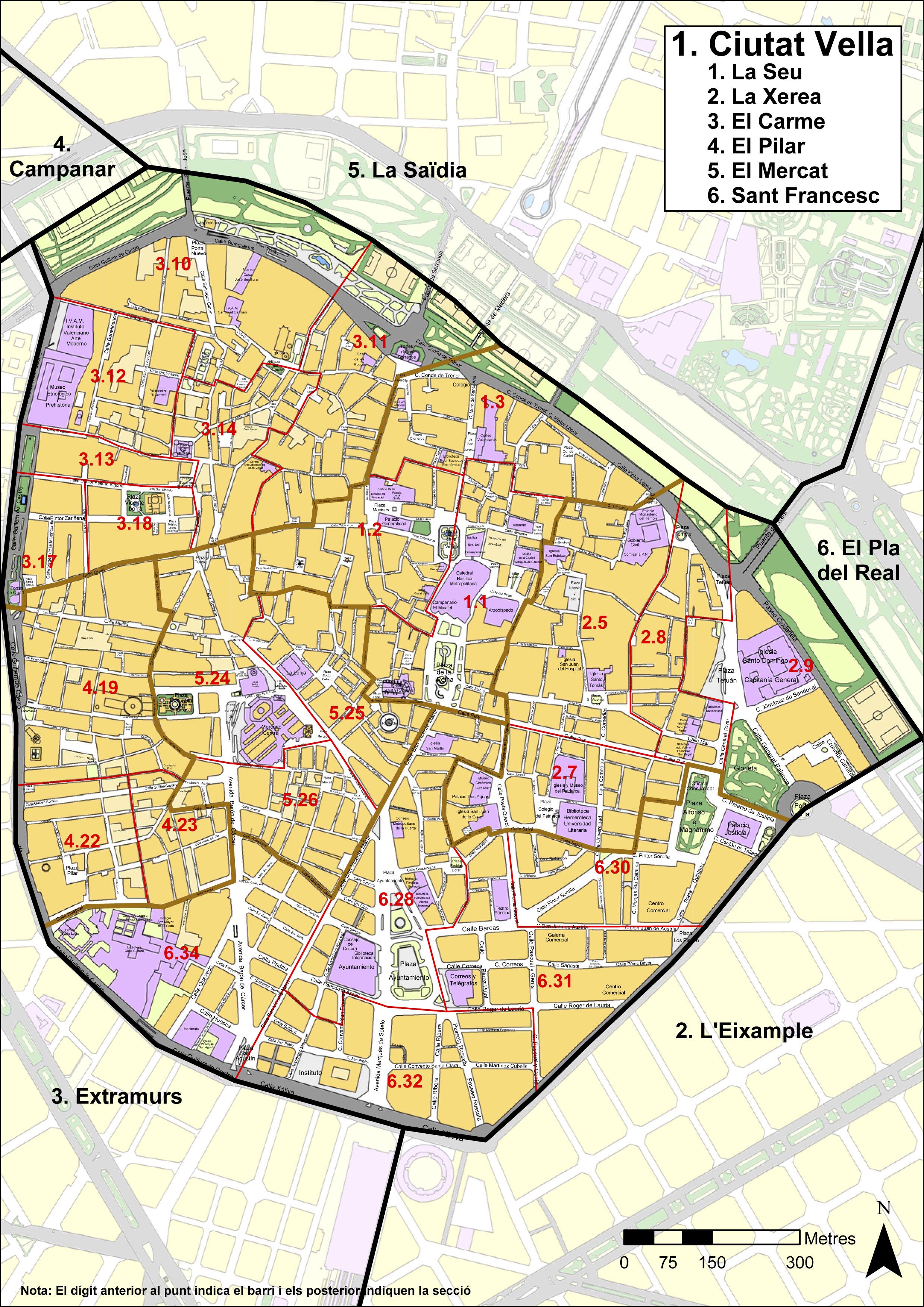 Distrito de Ciutat Vella, Valencia