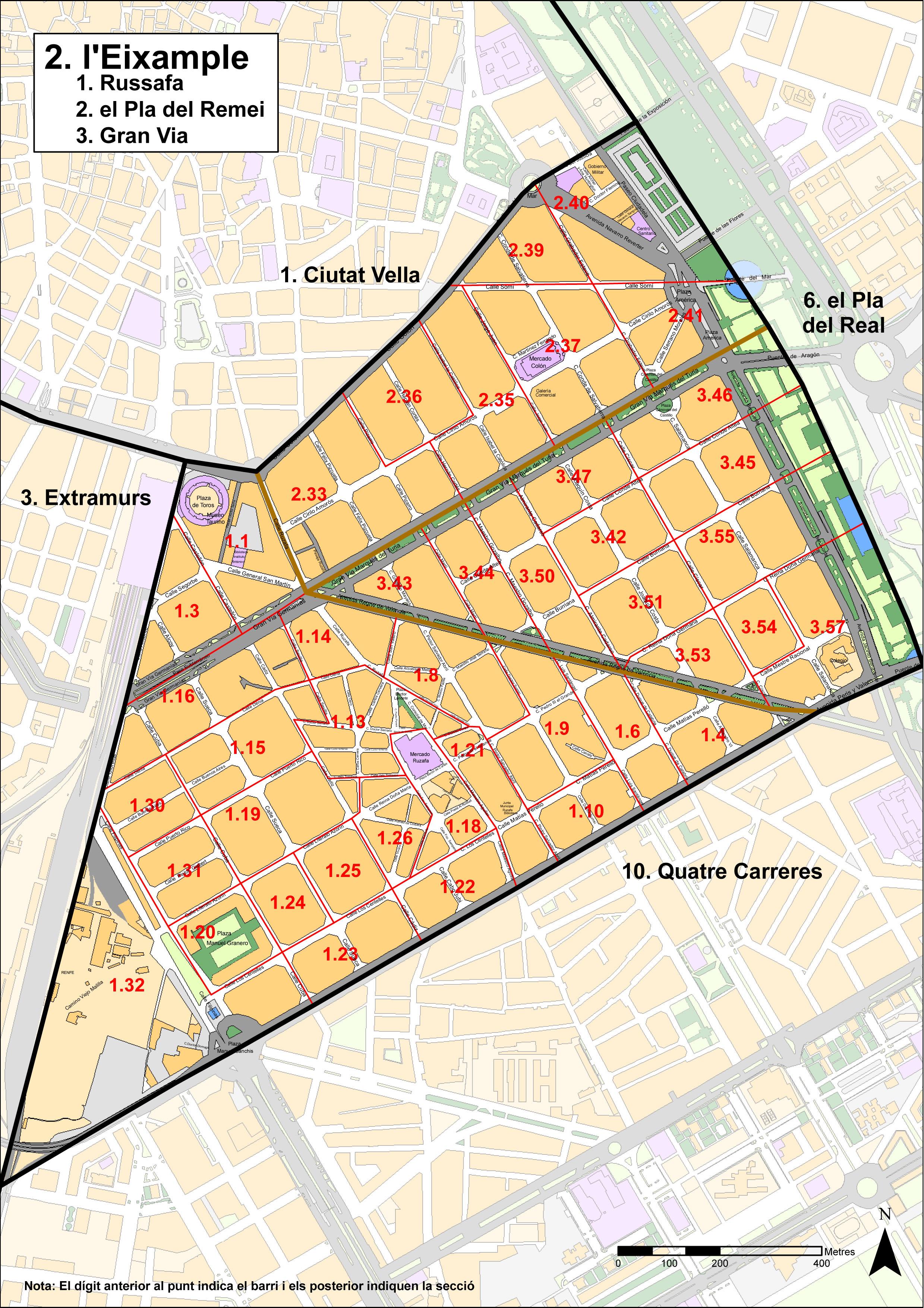 Distrito de l'Eixample, Valencia
