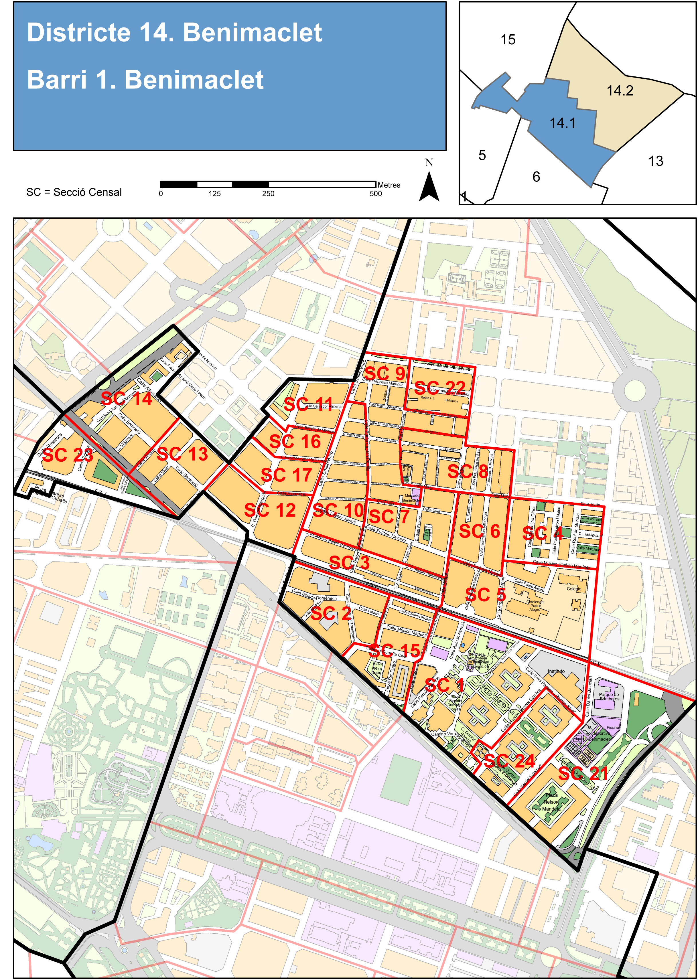 Neighborhood of Benimaclet, Valencia