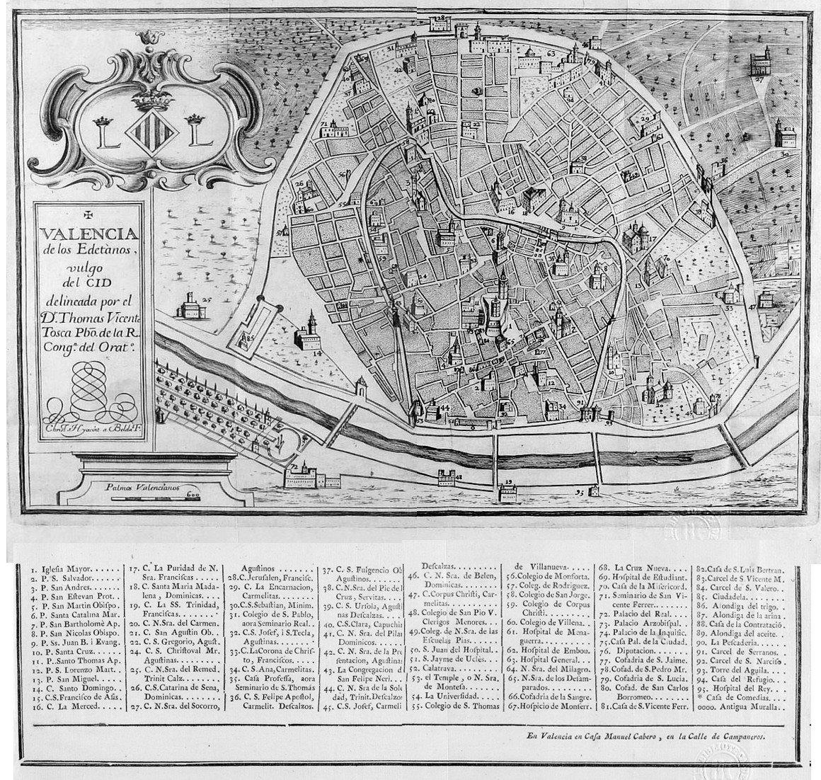 Valencia de los edetanos vulgo del Cid 1738
