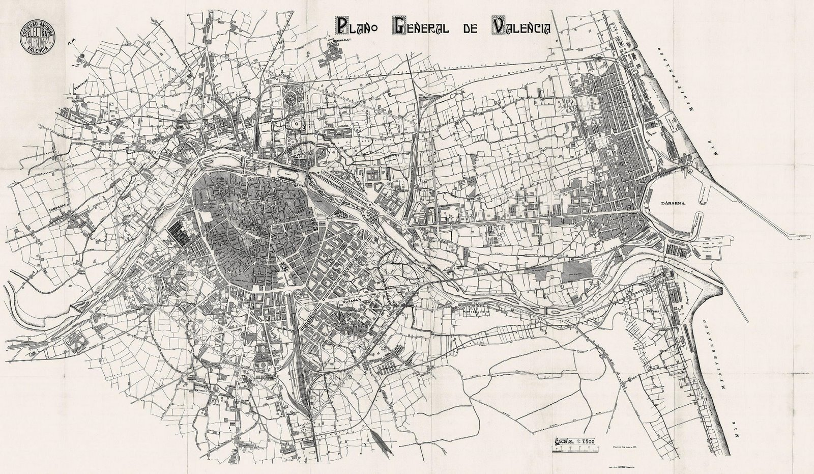 Map of Valencia 1925