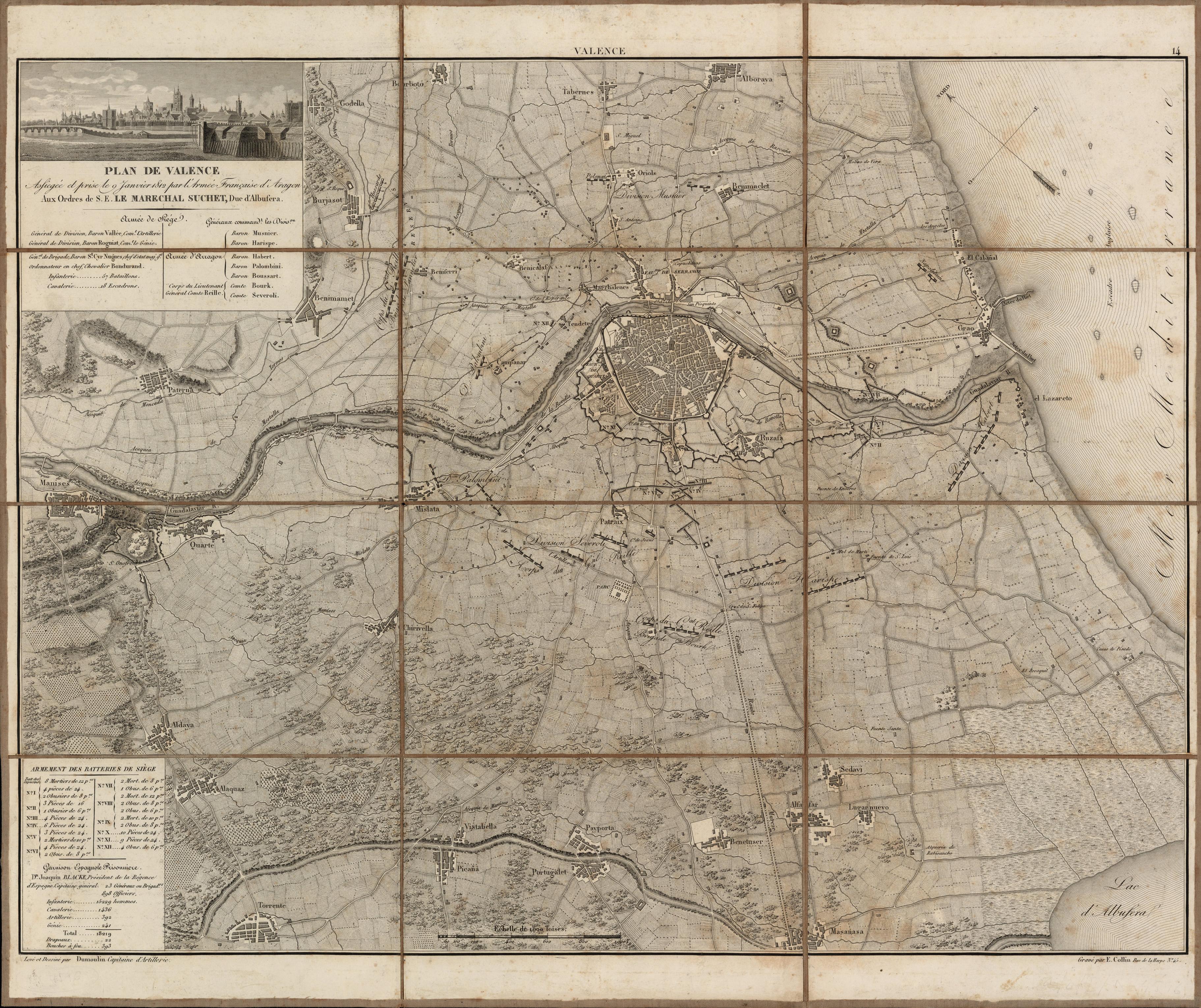 Map of Valencia, January 1812