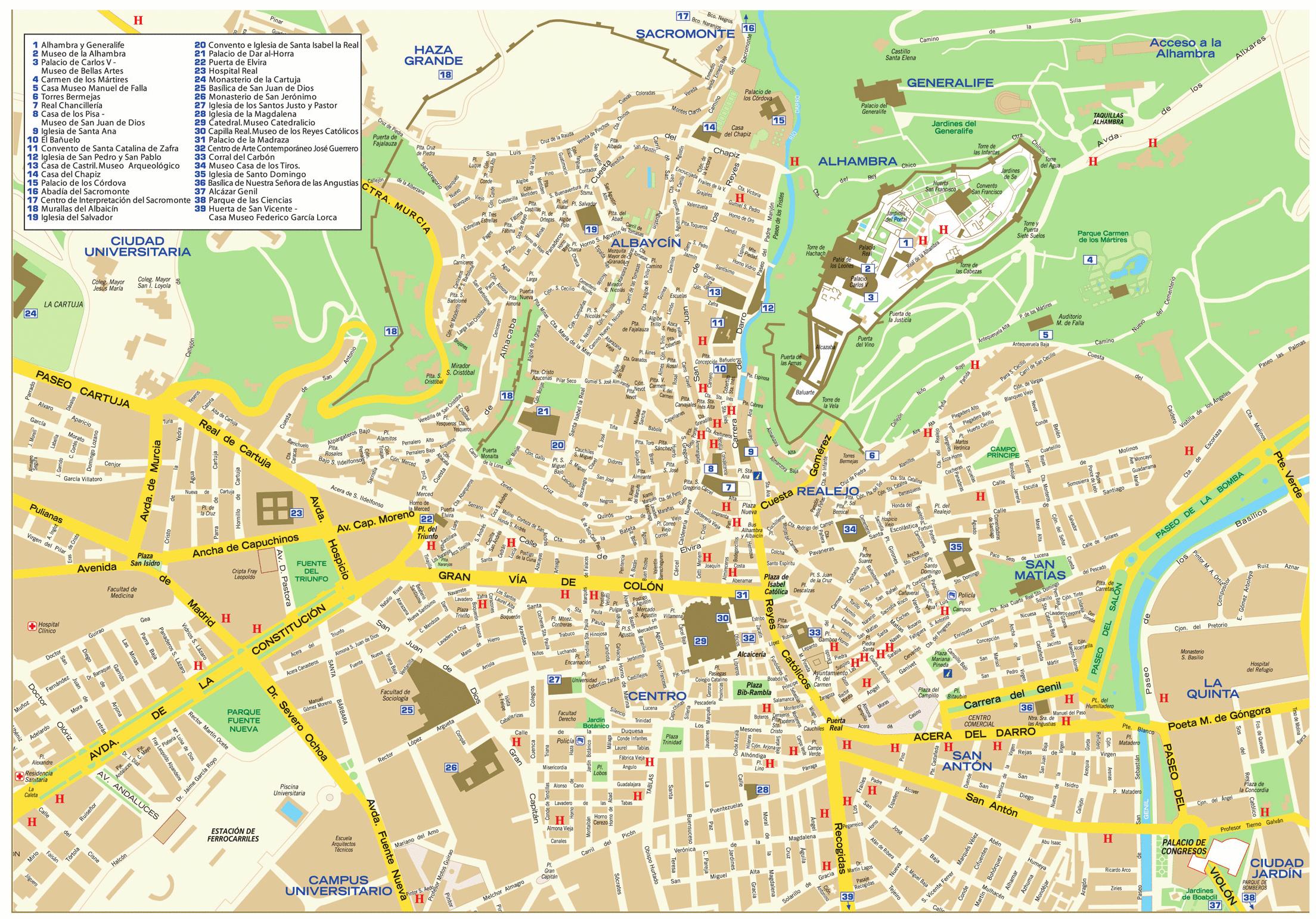 Granada map