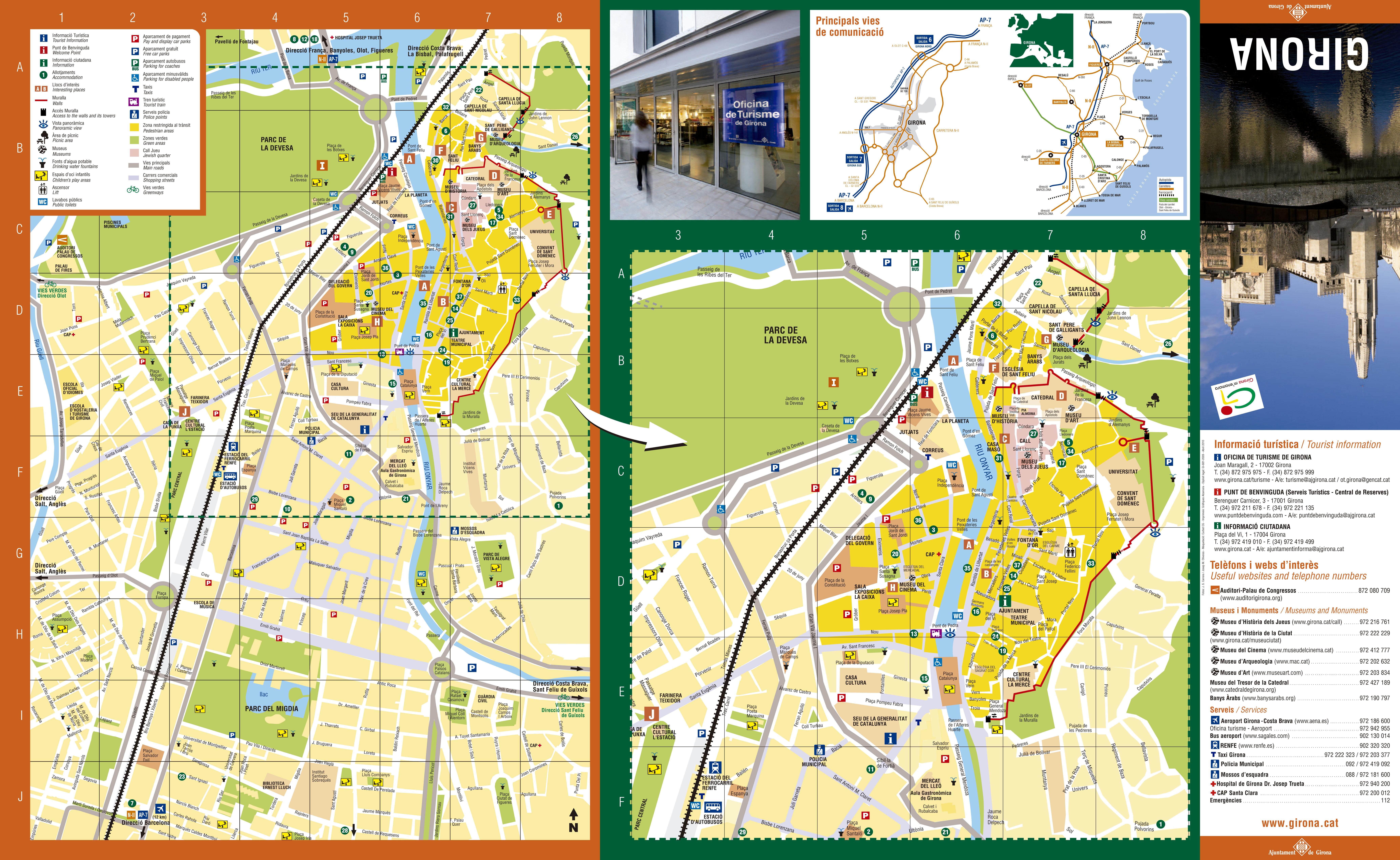 Girona tourist map 2010