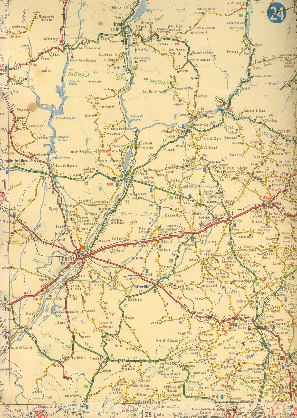 Zona de Lerida en 1959