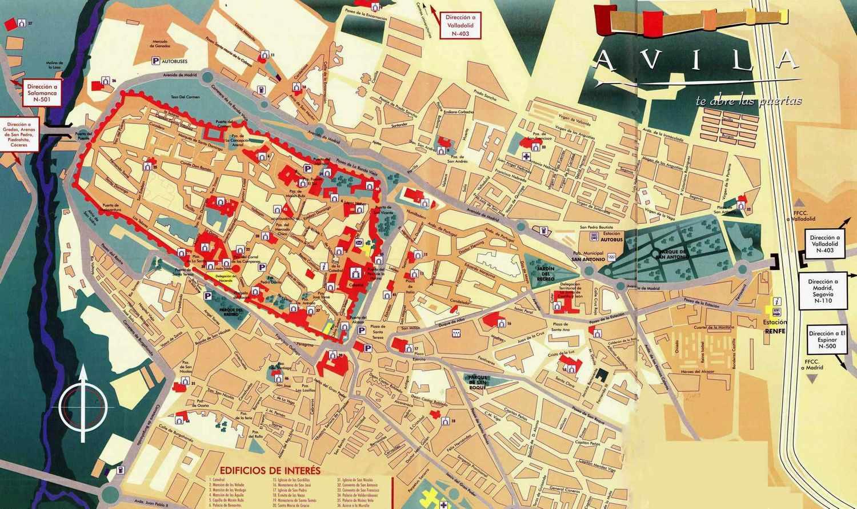 Avila Spain Map