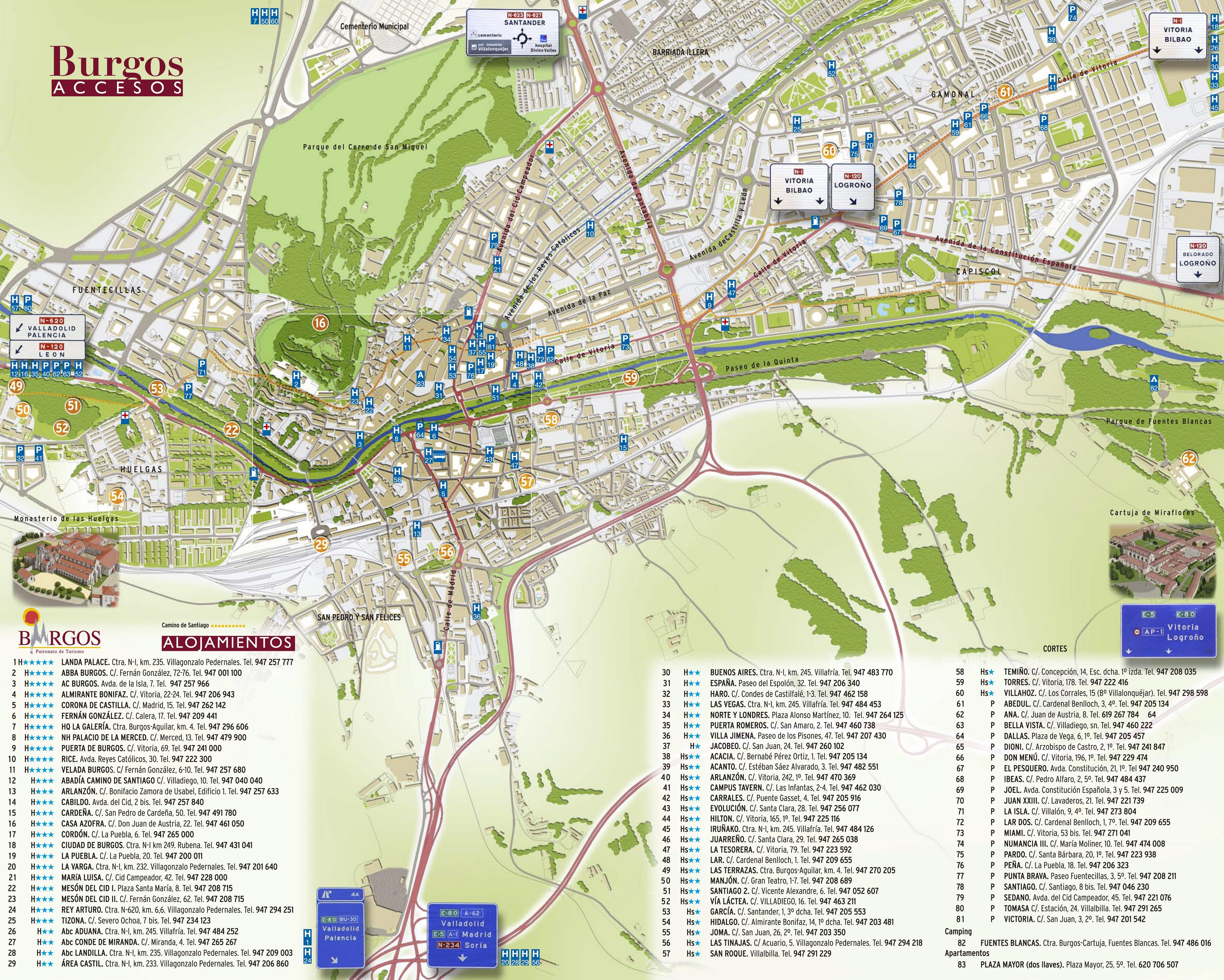 Map of Burgos 2008