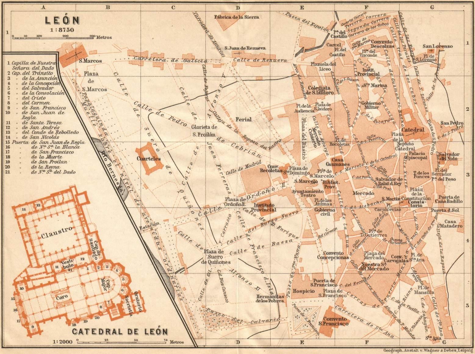 Mapa de León 1901