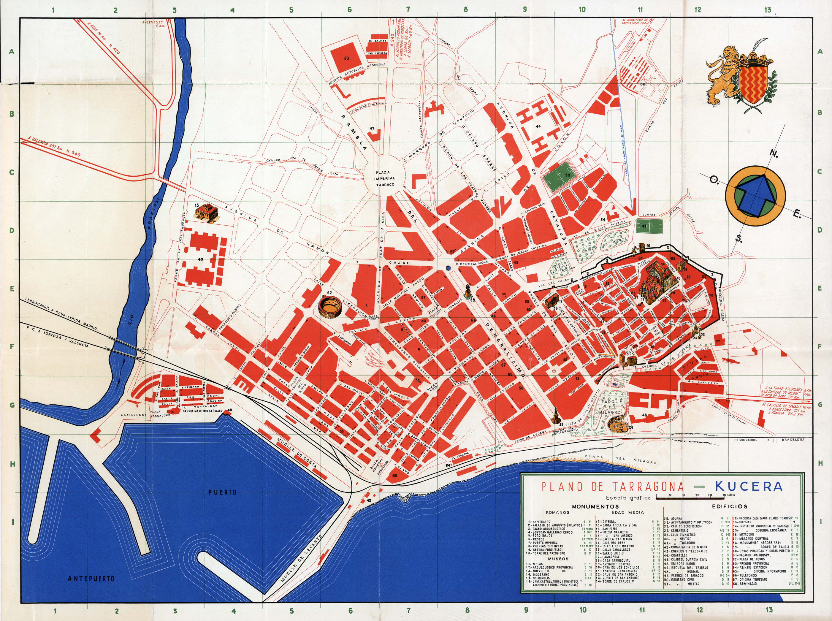 Mapa de Tarragona