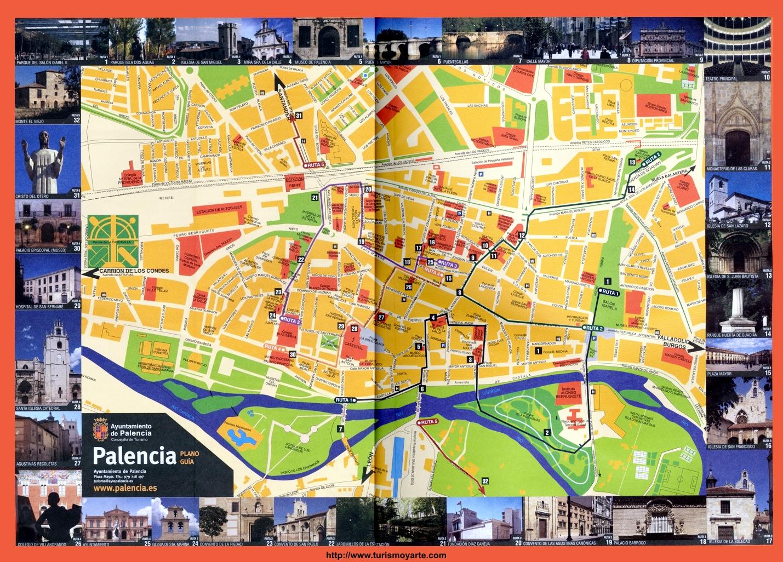 Palencia tourist map