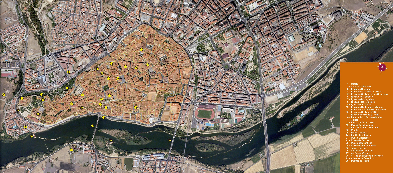 Mapa satelital de Zamora