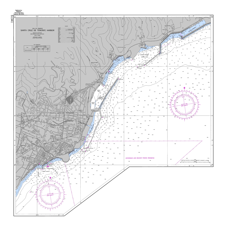 Port of Santa Cruz de Tenerife nautical chart