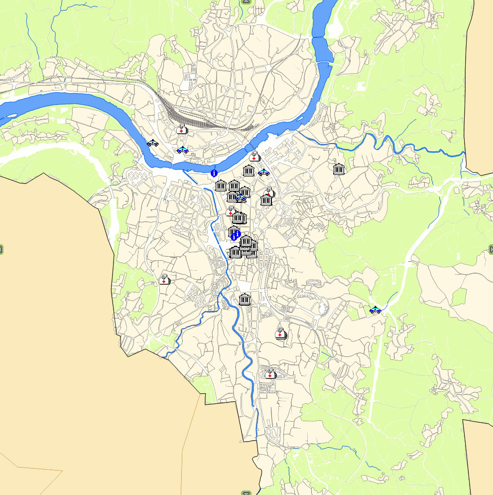 Ourense map