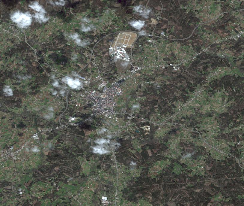 Mapa satelital de Carballo