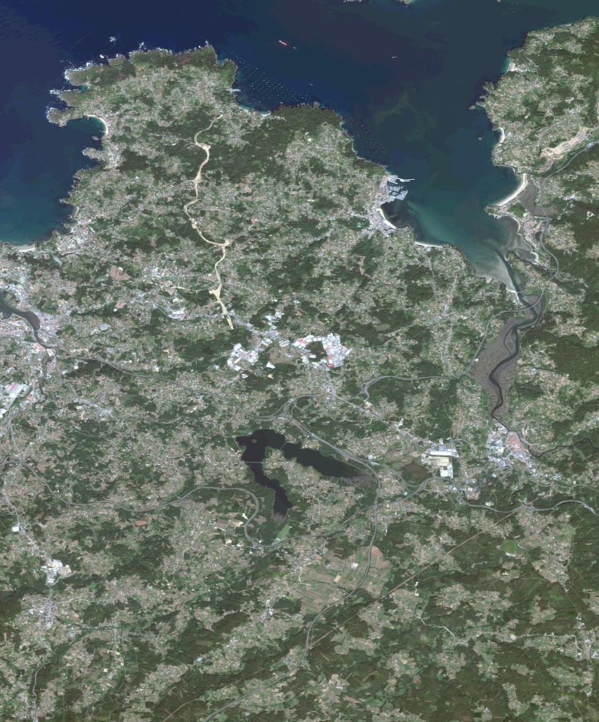Mapa satelital de Oleiros
