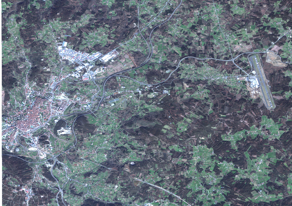 Mapa satelital de Santiago de Compostela