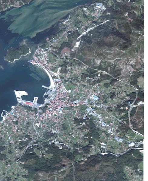 Satellite map of Vilagarcía de Arousa