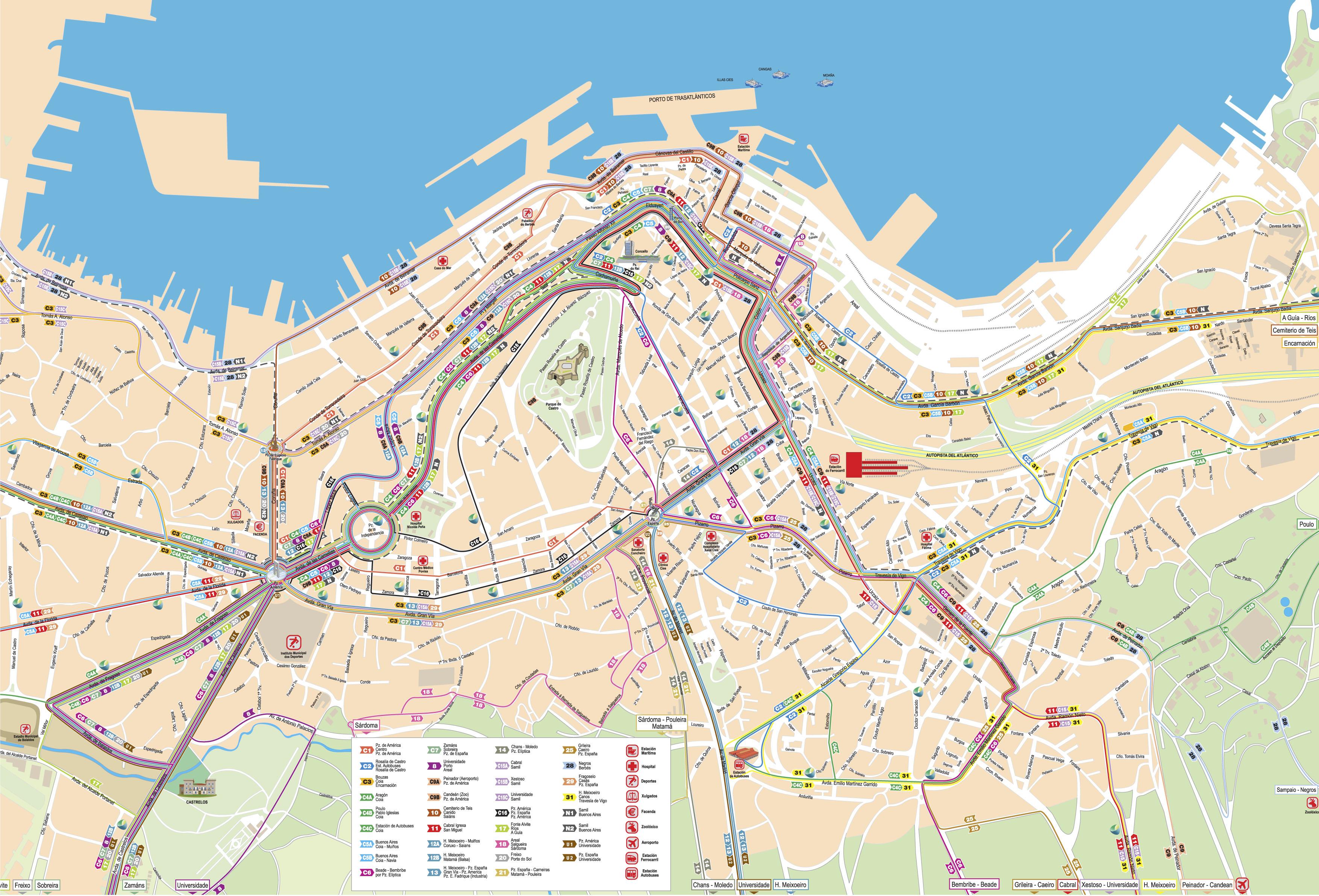 Transporte urbano de Vigo 2009