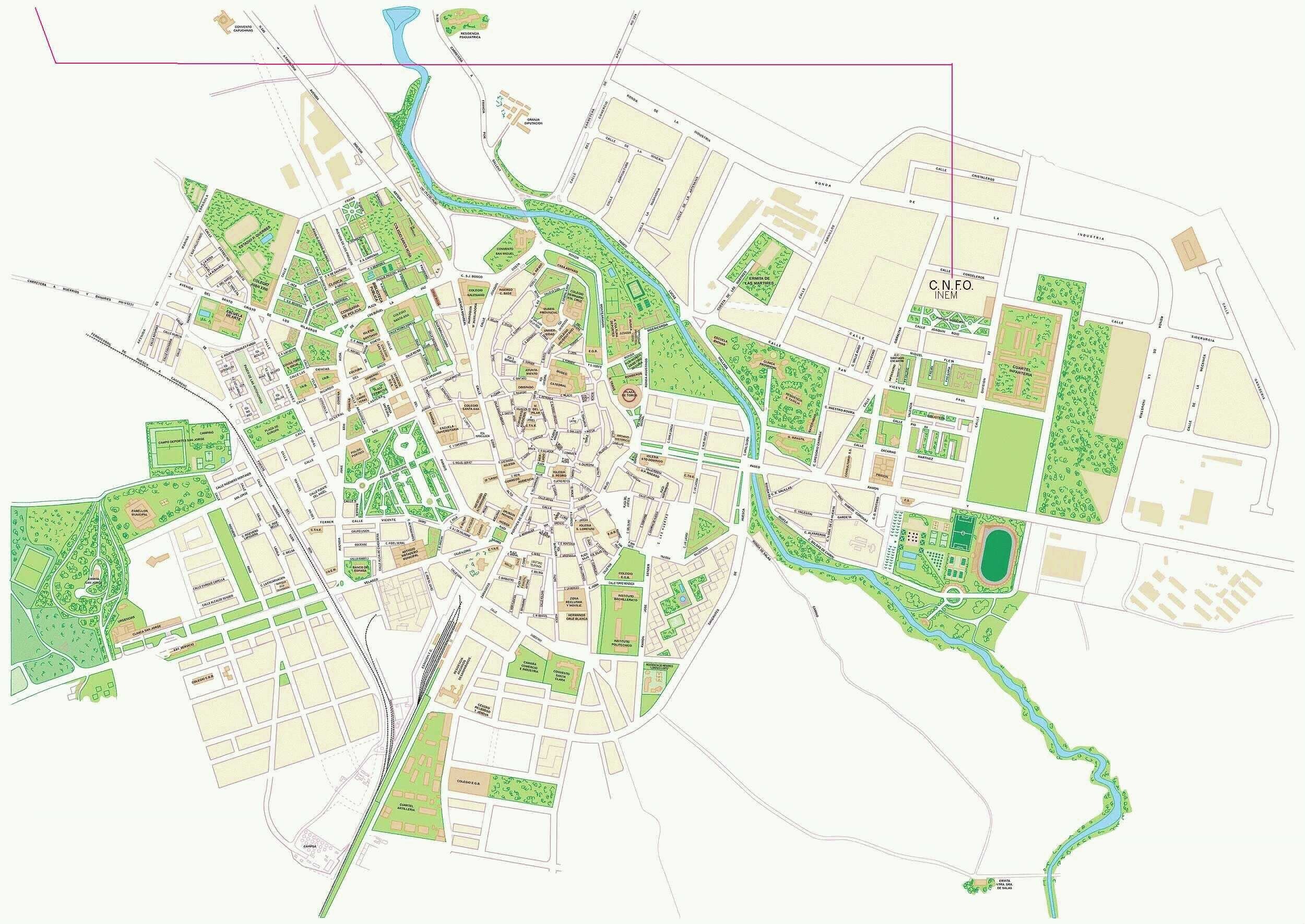 Huesca map