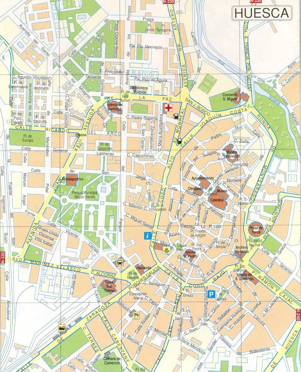 Mapa de Huesca