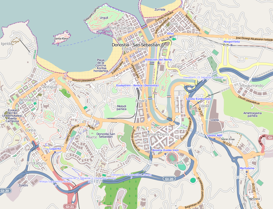 Mapa de San Sebastián