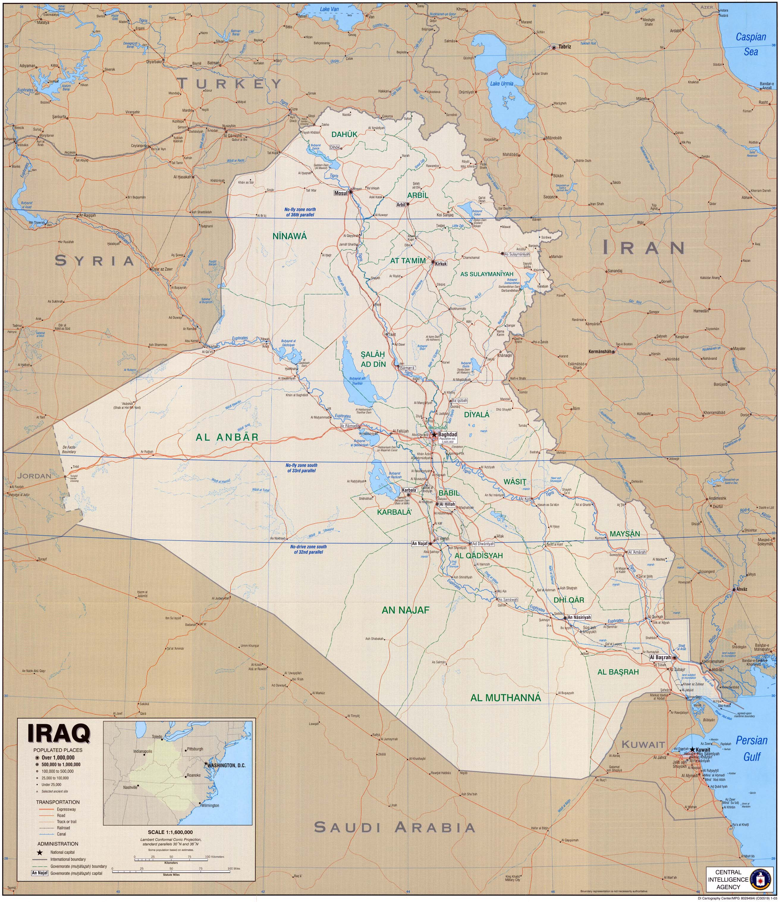 Iraq Political Map 2004