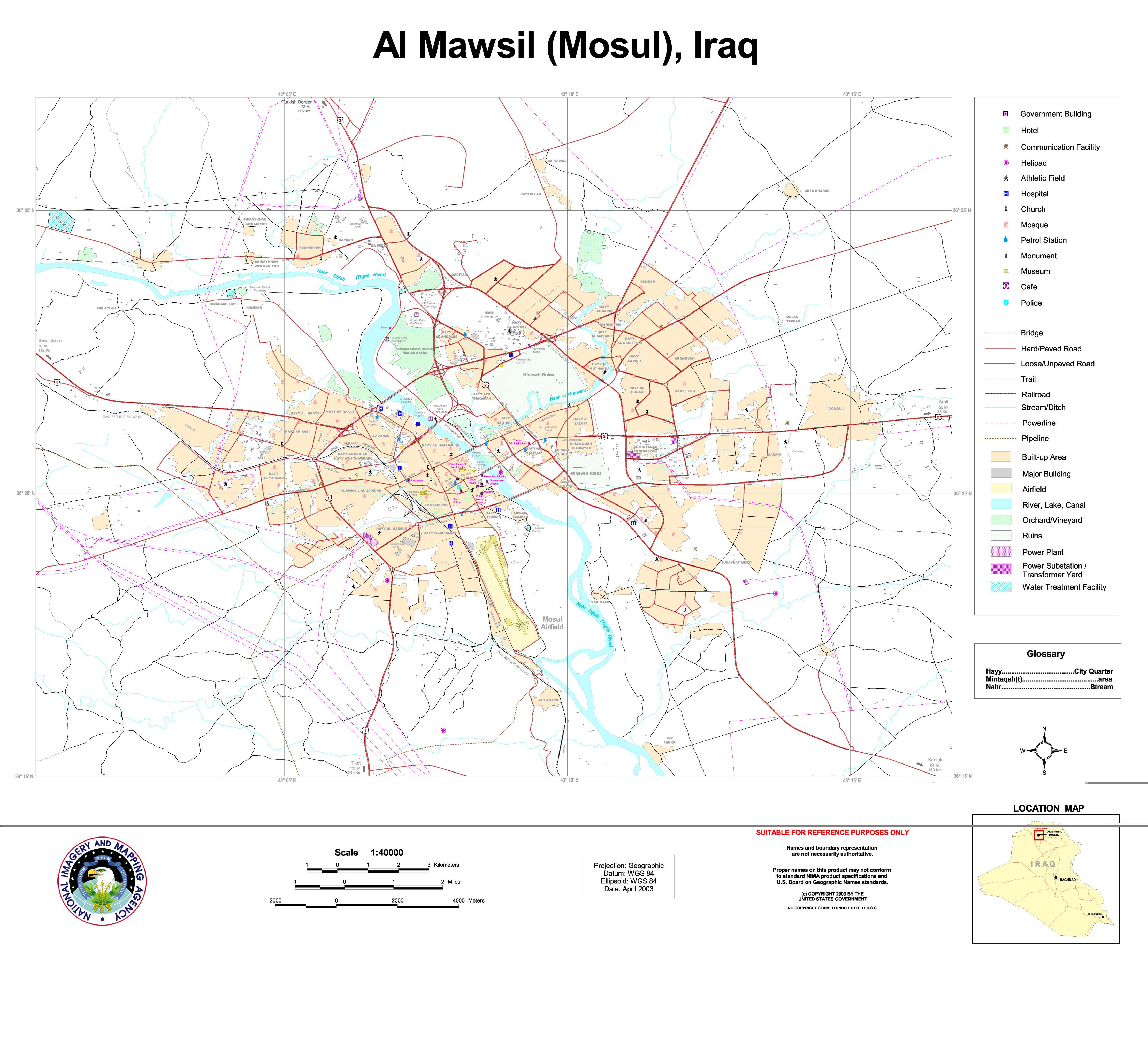Mosul map 2003