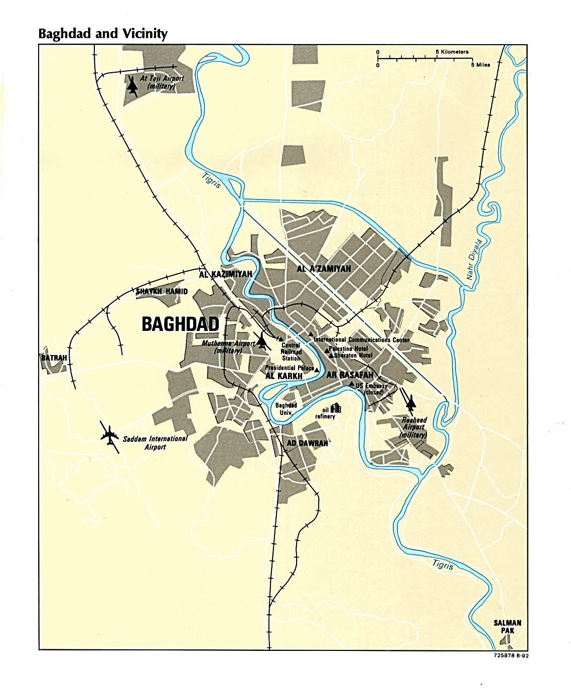 Mapa de Bagdad 1992
